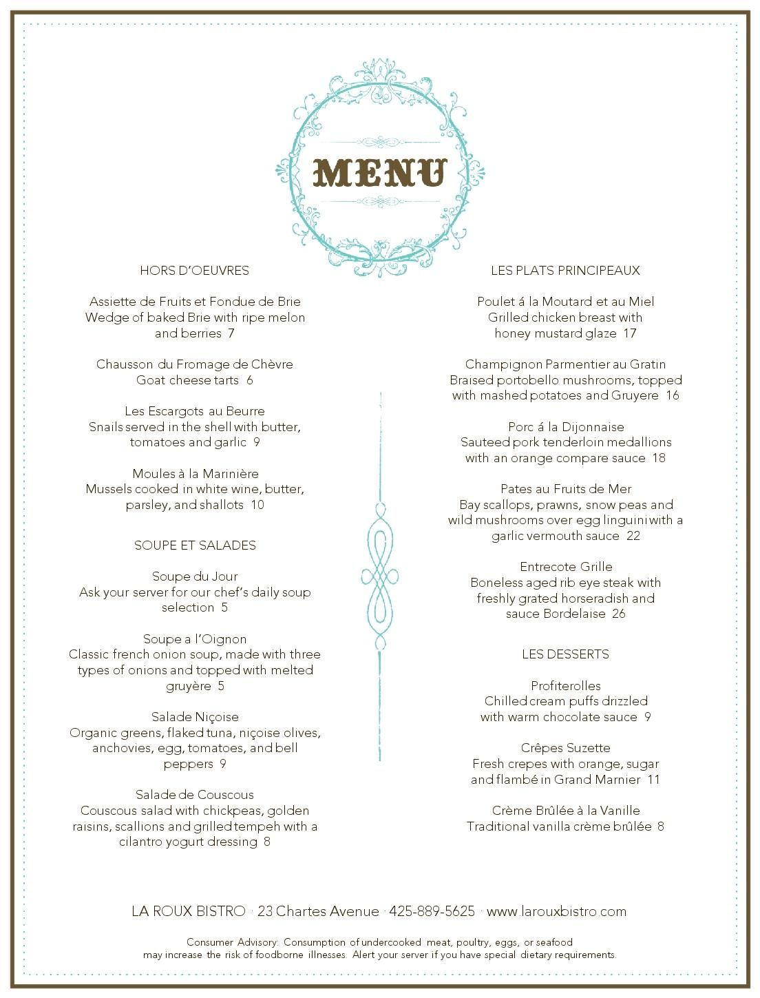 french restaurant menu musthavemenus carnegie library