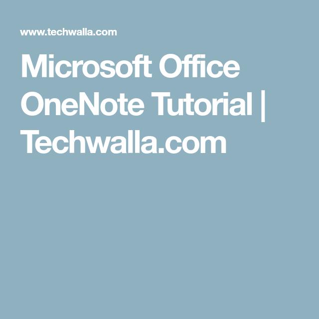 microsoft office onenote tutorial techwalla com word y excel