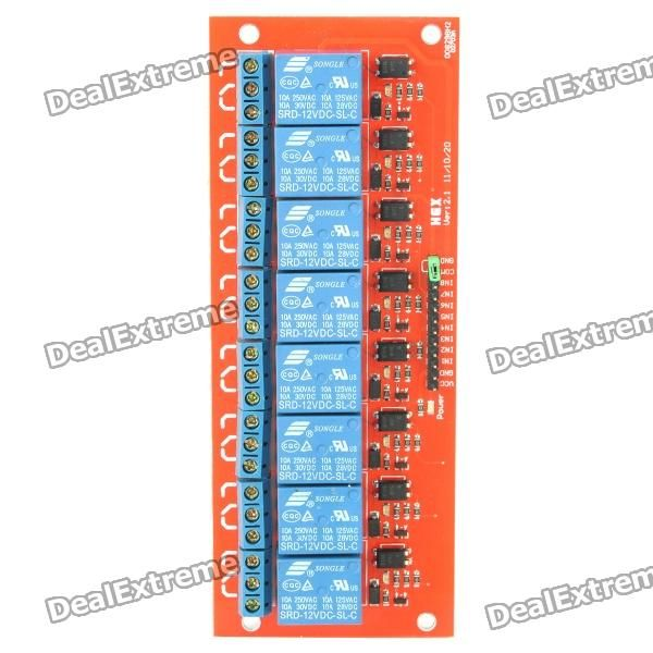 8-Channel 12V Relay Module for Arduino (Works with Official