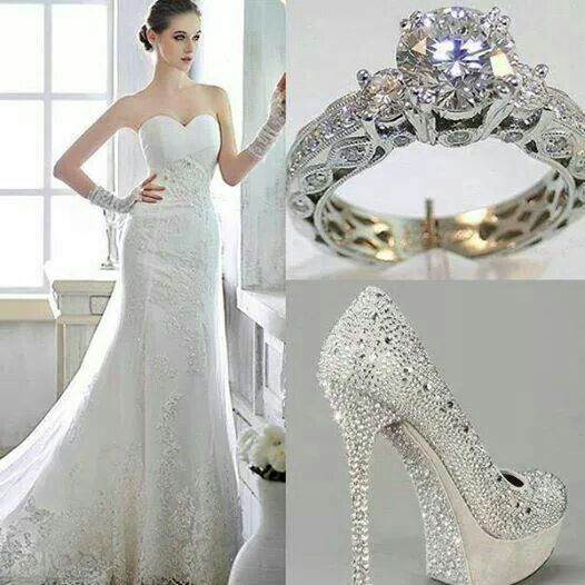 Wedding Gown Shoes And Ring