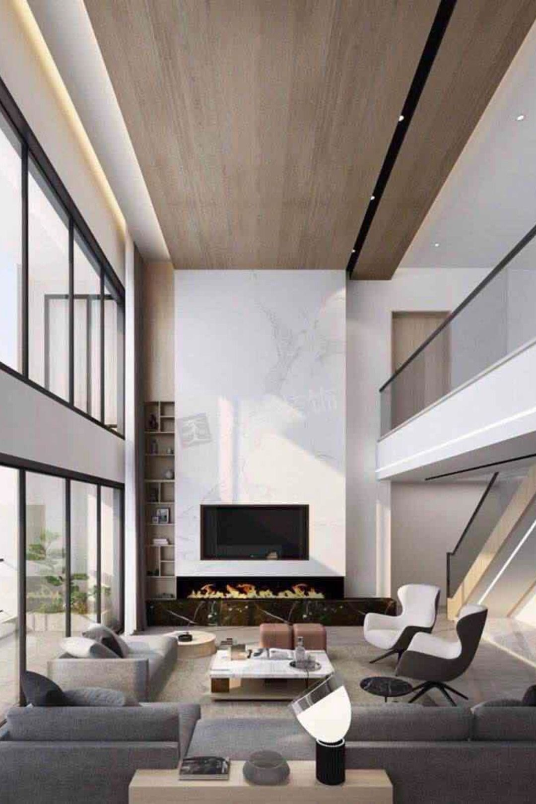 Pin By Will Brumby On Tr2 O High Ceiling Living Room Modern High Ceiling Living Room Double Height Living Room House designs living room