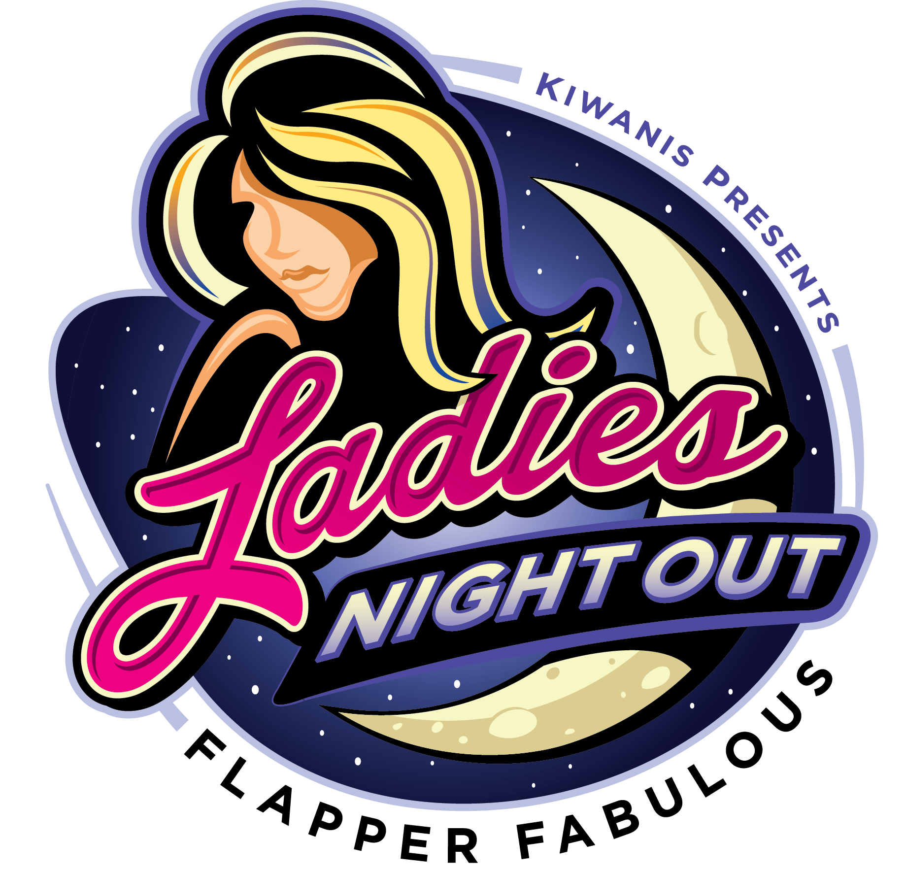 Great Falls Kiwanis Ladies Night Out Event Logo Greatfalls Kiwanis Ladiesnight Ladiesnightout