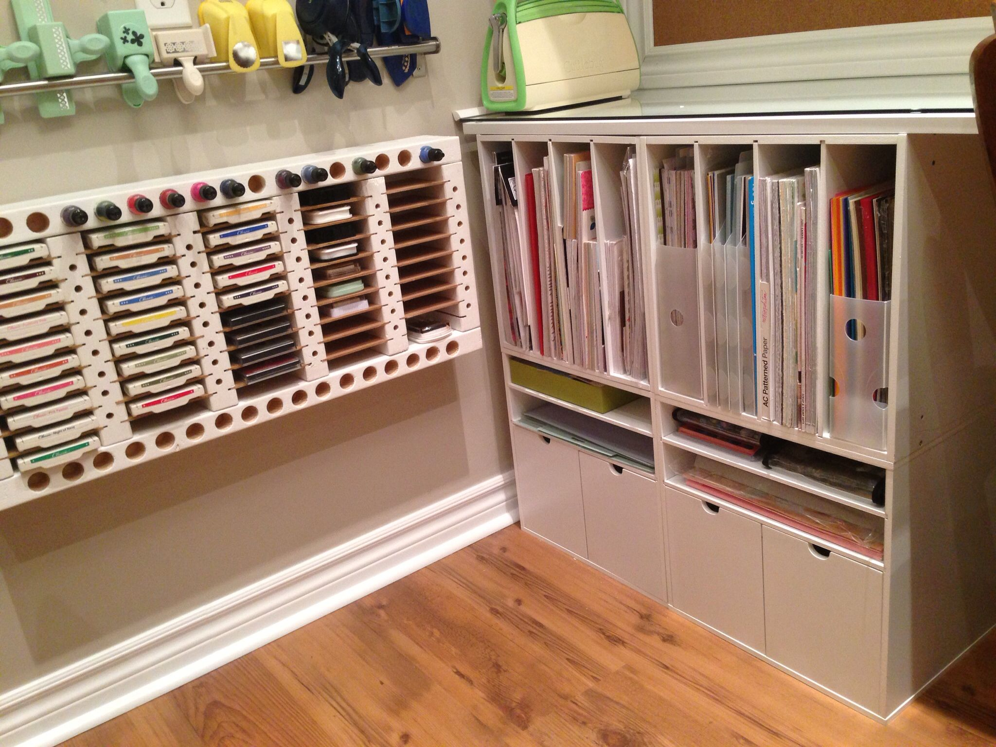 My craft room paper storage.  Check out my craft room tour on YouTube:  http://youtu.be/N-04zGr0e24
