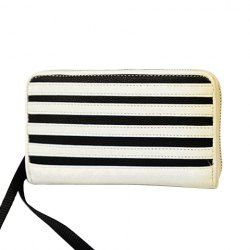 $11.62 Fashion Women's Clutch Wallet With Color Block and Stripes Design