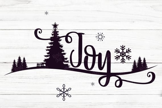 Download Joy svg, Joy with christmas tree, Joy eps, christmas svg ...