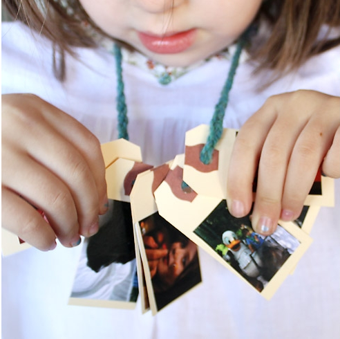 Tutorial for DIY family necklace to make the first day of preschool easier on kids