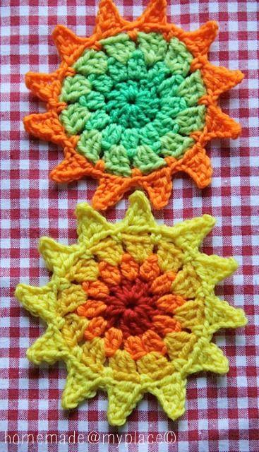 homemade@myplace: Make it ! Sun motif (free pattern)