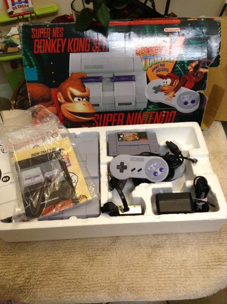 Super #nintendo #SNES Donkey Kong Country Set System #console