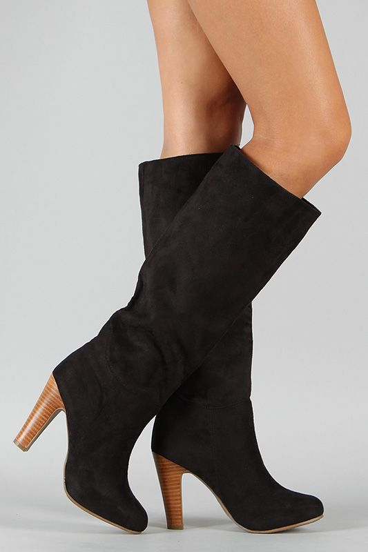 d6e76647fd8 Dollhouse Embrace Suede Knee High Boot