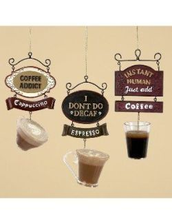 Coffee Christmas Ornaments.Coffee Christmas Themed Ornaments For My Caffeinated