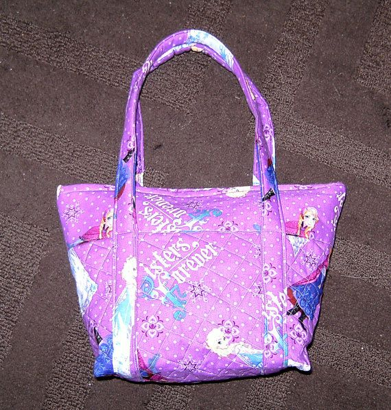 Custom Made Disney Frozen Quilted Purse with Queen by TheJDove