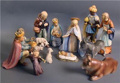 Beautiful 1951 Goebel Hummel 12 Piece Nativity Set Goebel Hummel Nativity Set Hummel