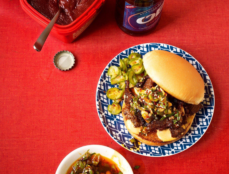 Bulgogi Sloppy Joes With Scallion Salsa Recipe   Recipe ...