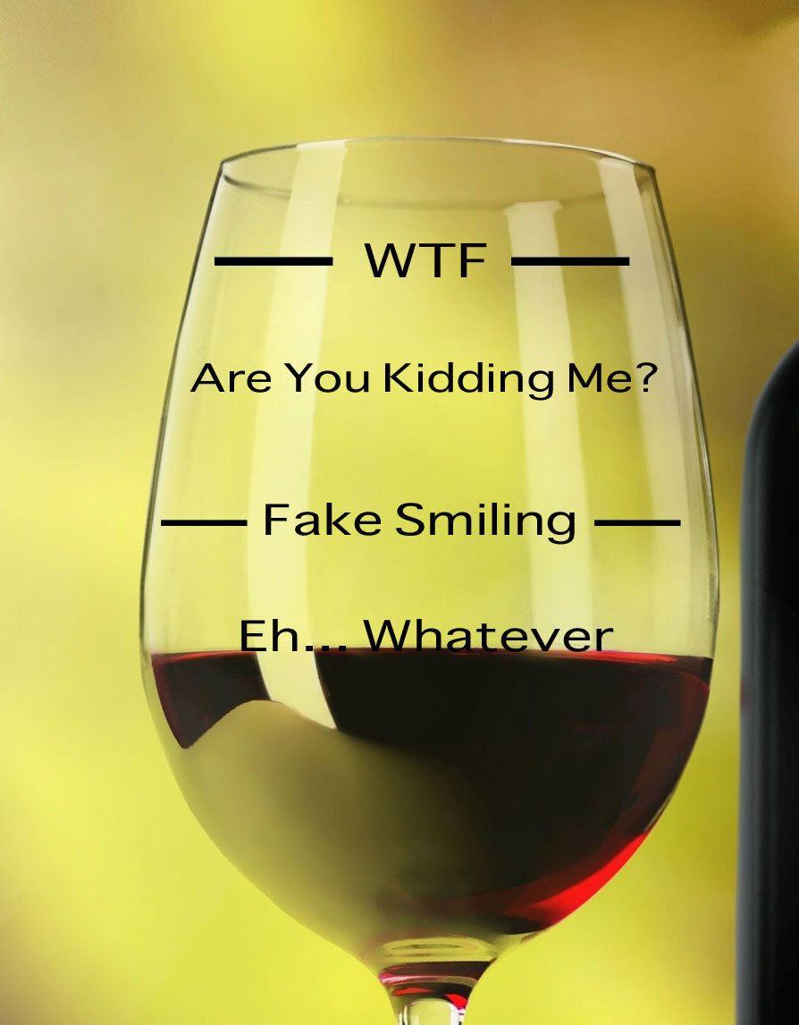 Funny Wine Glass WTF Wine Glass personalized wine glass