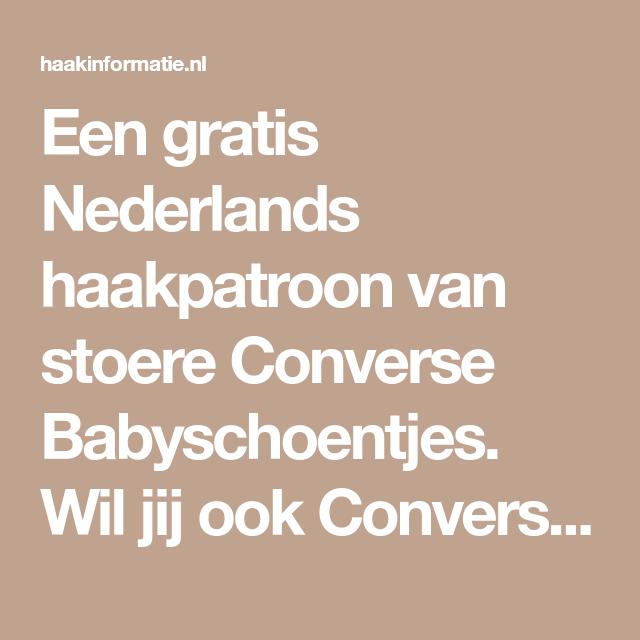 Haakpatroon Converse Babyschoentjes Converse Baby Schoentje