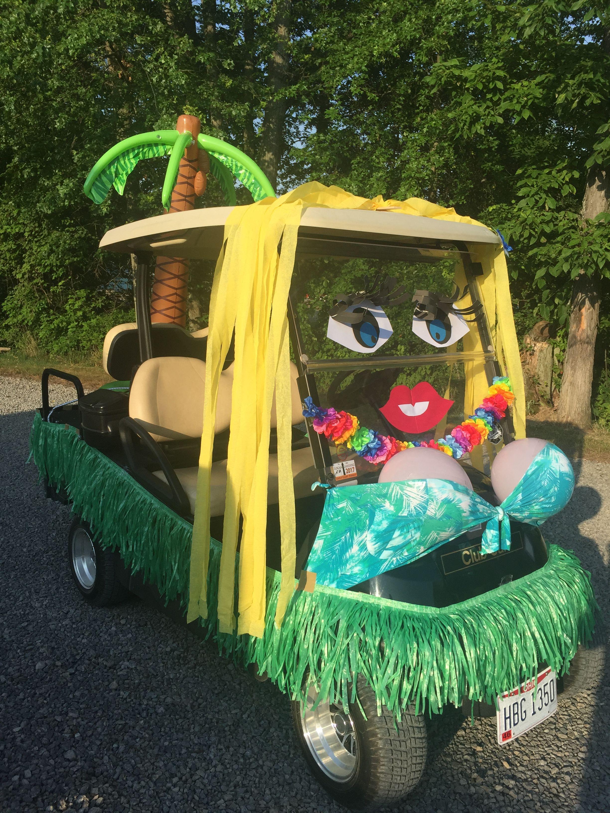 Golf Cart Decorated In 2019 Custom Golf Carts Golf