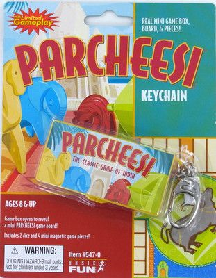 Parcheesi keychain by Basic fun