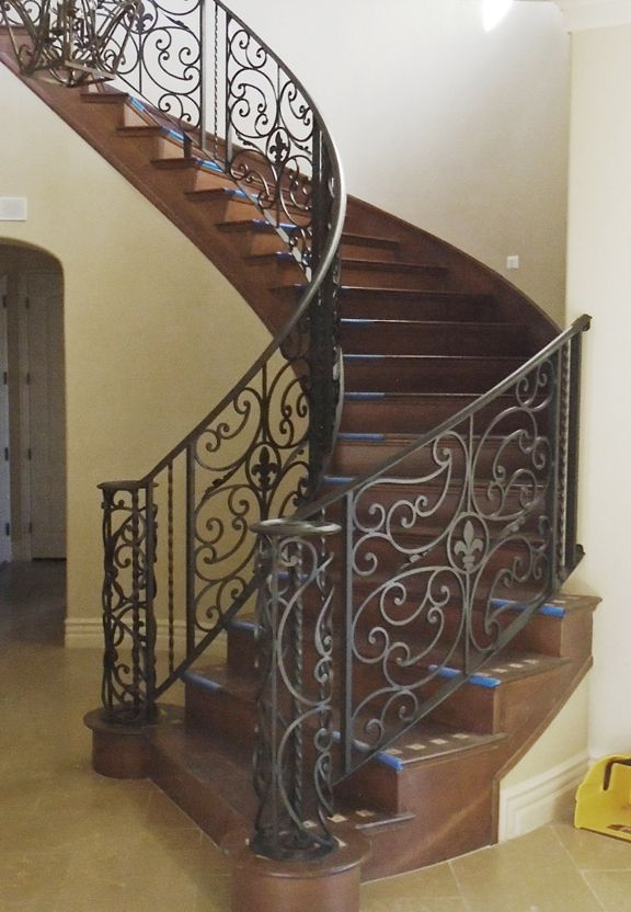 Toulouse Wrought Iron Interior Stair Railings Ir203 Iron   Rod Iron Interior Railings   Iron Work   White   Steel   Route   Staircase