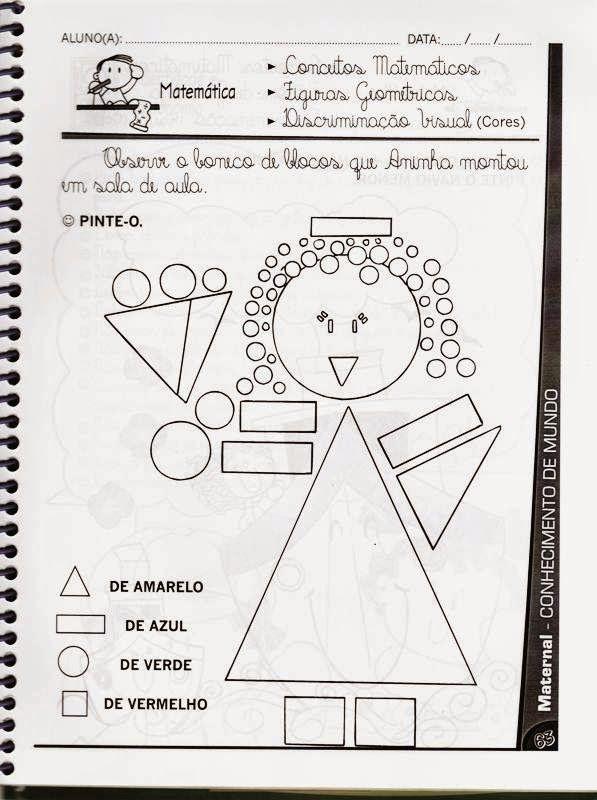 Atividades Variadas Para Educacao Infantil Maternal 3 A 4 Anos