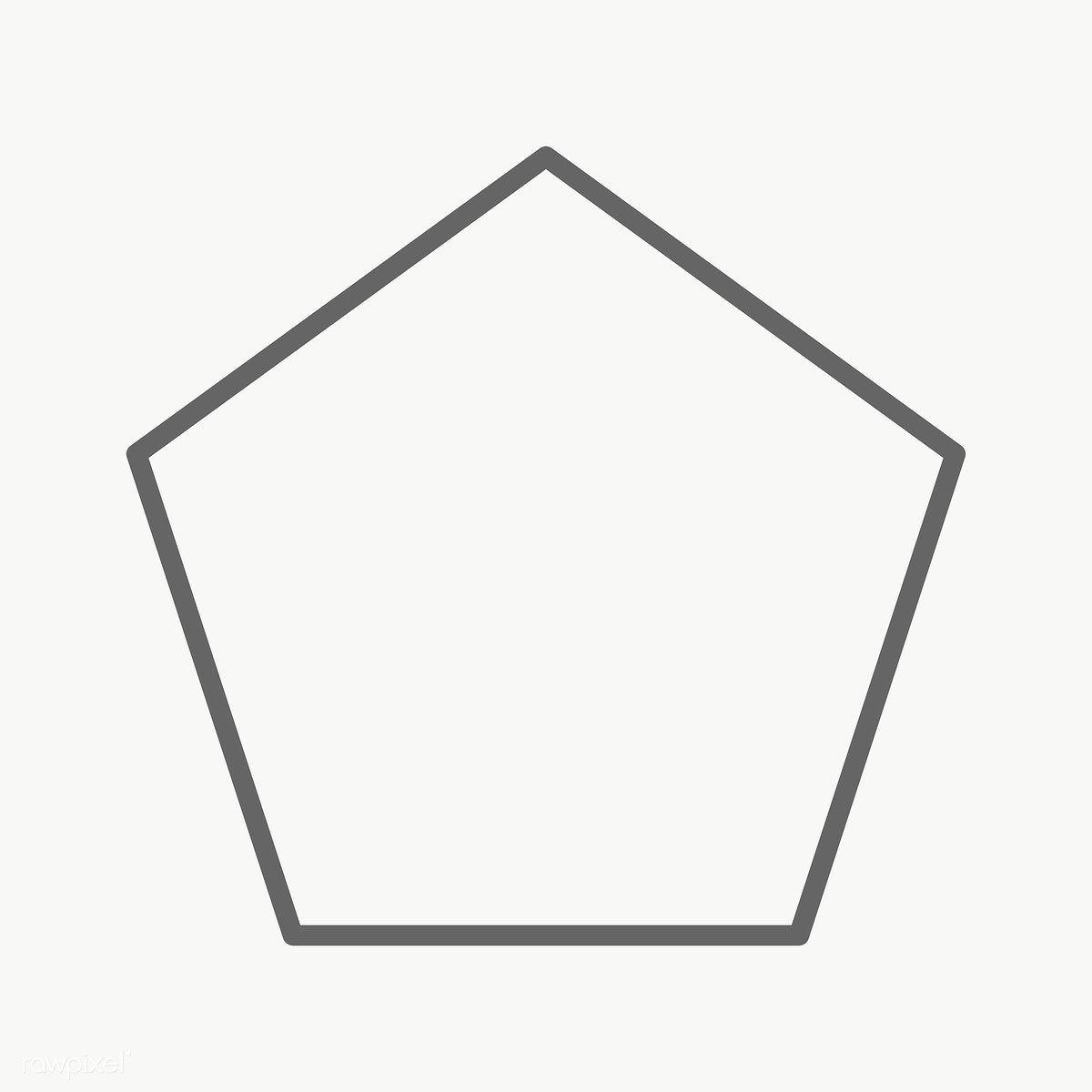 Stroke Pentagon Geometric Shape Transparent Png Free Image By Rawpixel Com Ningzk V Geometric Shapes Printable Designs Geometric