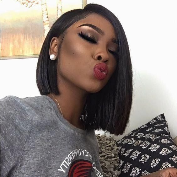2019 Summer Hairstyle Recommended--Short cut lace wigs - 8'' / 100% THICK / BLACK