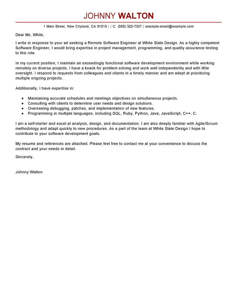 25 Engineering Cover Letter Cover Letter Examples For Job Cover