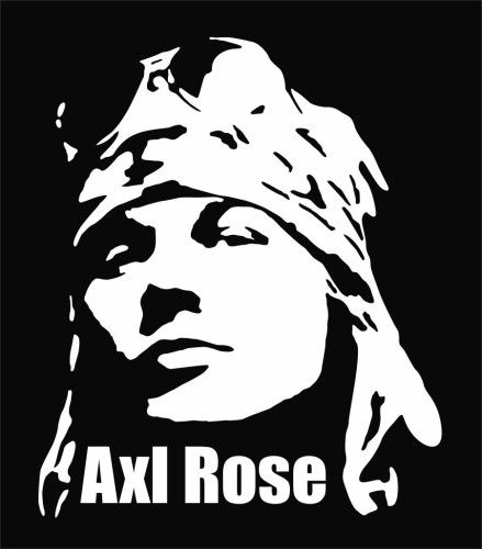 Axl Rose Die Cut Vinyl Decal Sticker In 2019 Tshirt