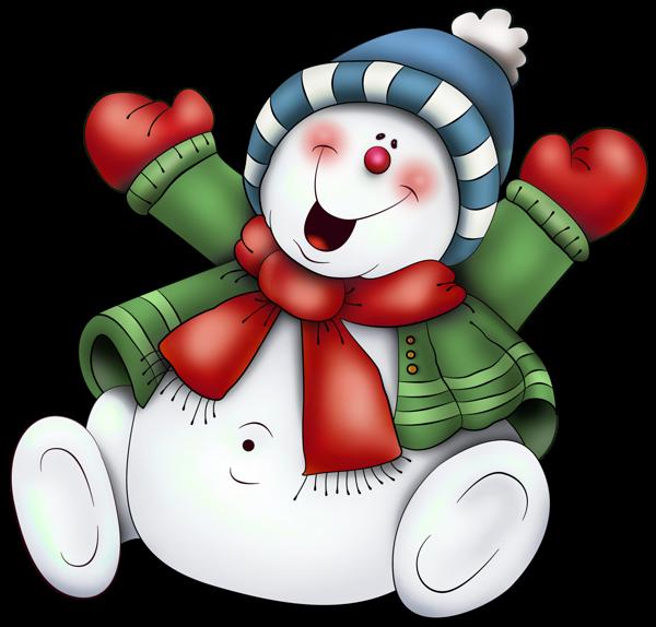 Hiver noel bonhommes de neige cute snowmen neige clipart - Clipart bonhomme de neige ...