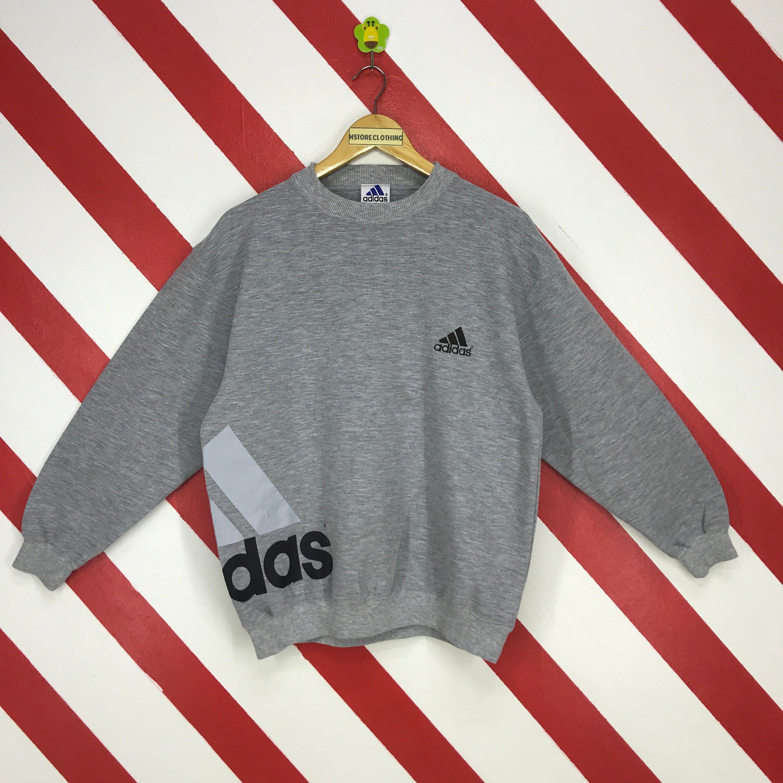 Excited To Share This Item From My Etsy Shop Vintage 90s Adidas Sweatshirt Crewneck Adidas Trefoil Sweater Sweatshirts Long Sleeve Tshirt Men Vintage Adidas [ 3000 x 3000 Pixel ]