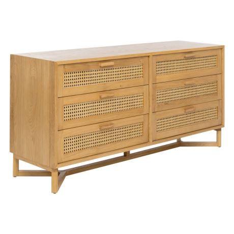 Raffles 6 Drawer Dresser Honey συρταριερες In 2019