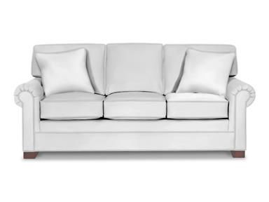 Shop for Craftmaster Three Cushion Queen Sleeper Sofa, 990150-68, and other Living Room Sofas at Tyndall Furniture Galleries, INC in Charlotte, North Carolina. This casual queen sleeper sofa has handsome tailoring and crisp, clean lines.  It features attached box border backs, paneled roll arms,  3 plush seats, and block legs.