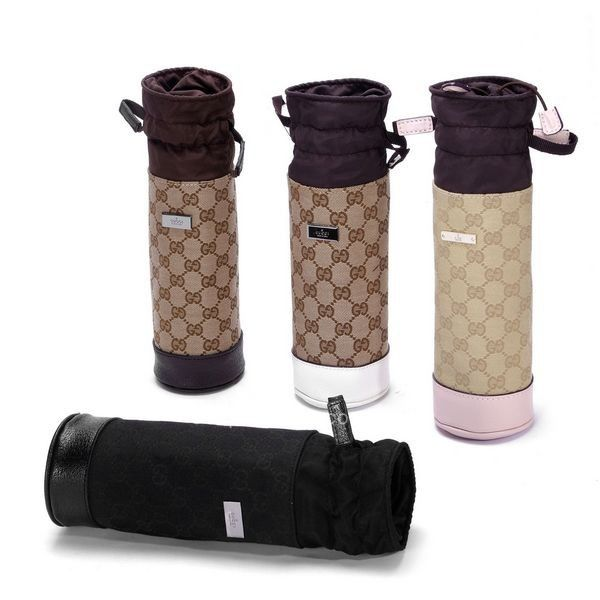 Gucci baby baby bottle warmer holder in 4 different colors w Drawstring  Closure 5af63f36ad959
