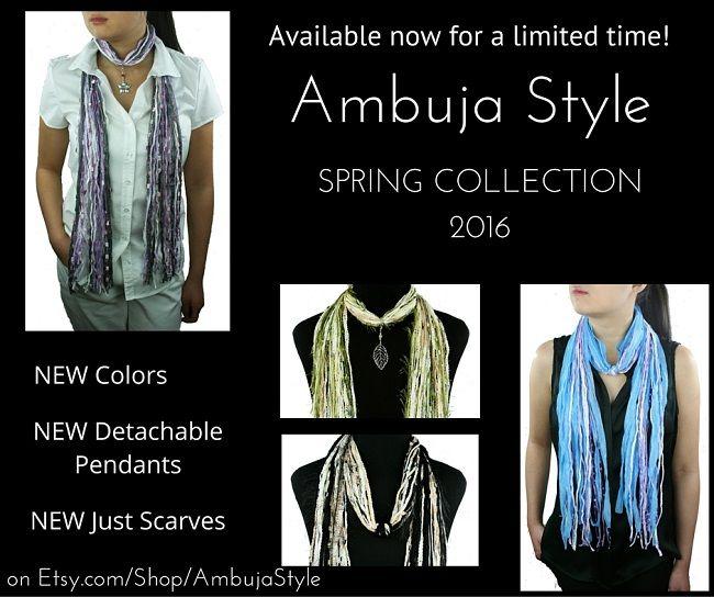 ambujastyle.com Unique Necklace Scarves for you SELF expression! Unique Women's Gift! #uniquemothersdaygift #necklacescarf