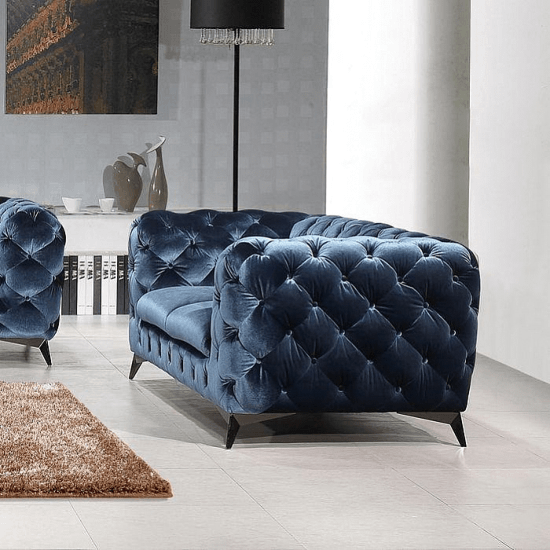 Binstead Chesterfield Loveseat Upholstery Blue Furniture Furnishings Furniture Best Leather Sofa Sofa Upholstery