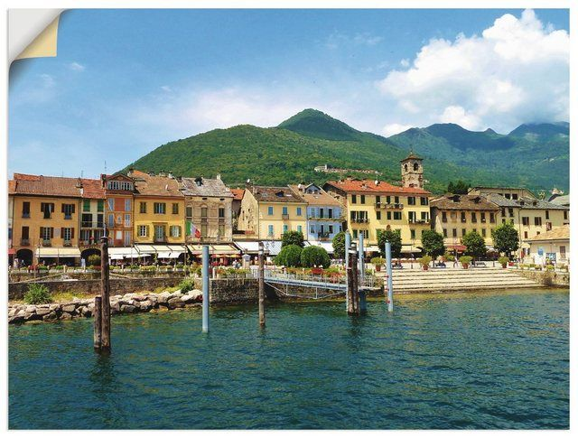 Photo of Buy Artland wall film »Christine Huwer: Cannobio on Lake Maggiore« online OTTO
