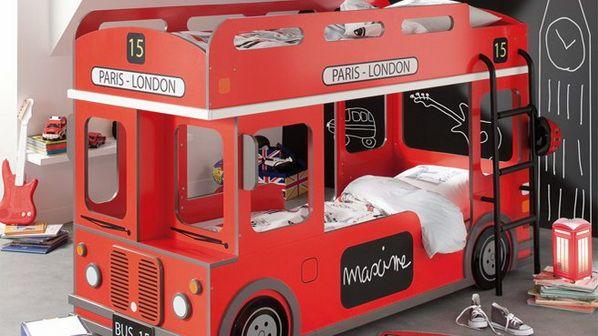 Etagenbett London Bus : Etagenbett geko grün kinder komfort