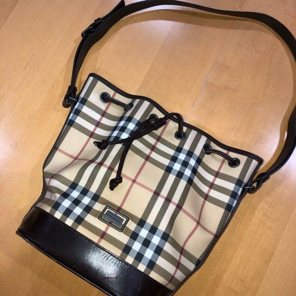 Burberry Vintage Nova Check Bucket Bag Burberry Burberry Bag Bucket Bag