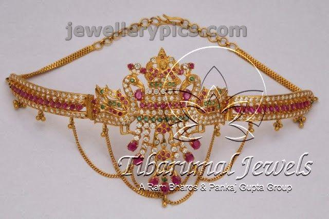 4 great Ruby Armlet bajubandhs at Tibarumal jewellers - Latest Jewellery Designs