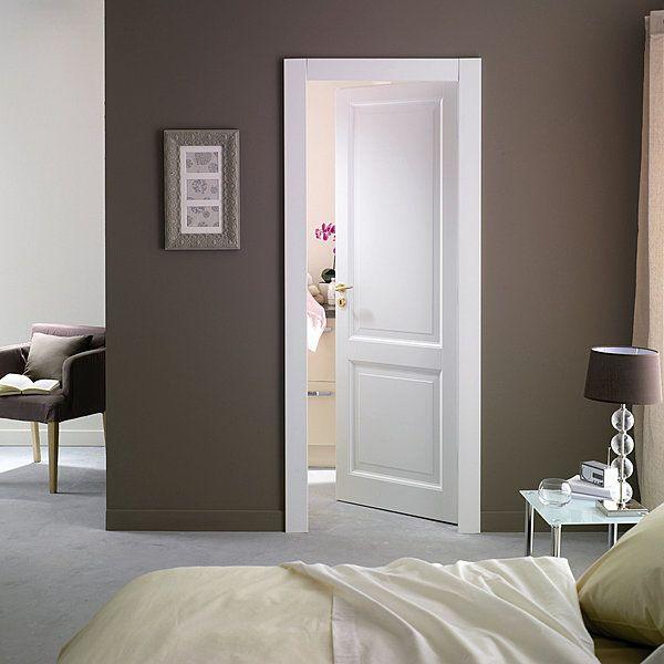 Collection Classiques laquées, porte pleine à moulures droites - decoration pour porte d interieur