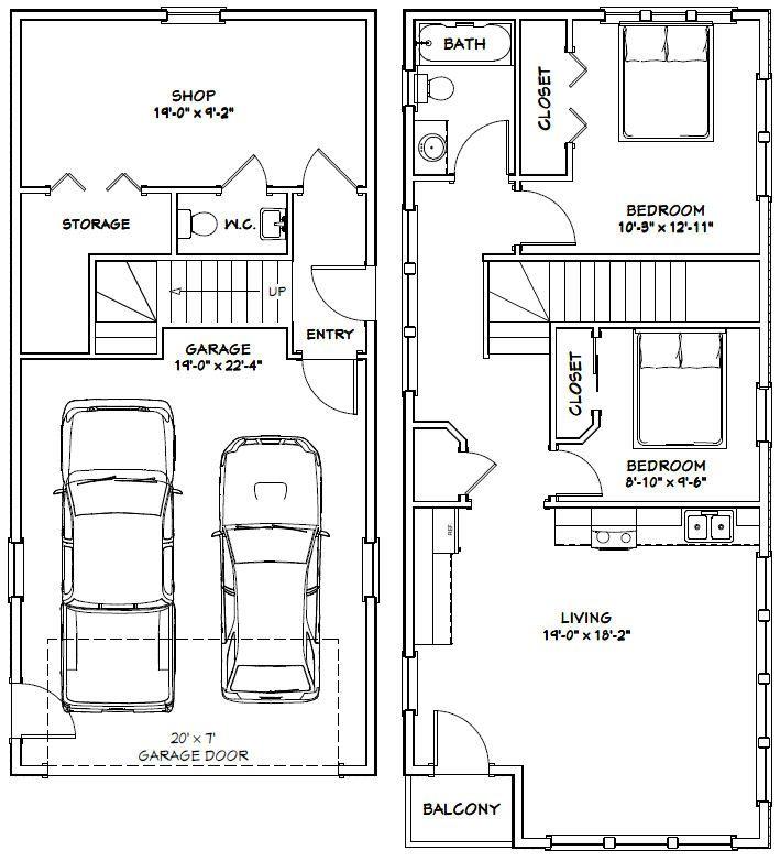 Rv Garage Apartment Plans Pdf Woodworking: PDF House Plans, Garage Plans, & Shed Plans. In 2019