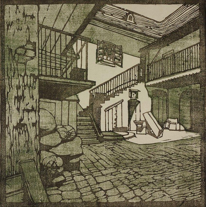 Carl Moll, Wiener Werkstätte | Beethoven Häuser; Heiligenstadt Probusgasse  | um 1902 | Albertina, Wien #KunstFürAlle | Vienna secession, Art movement,  Gustav klimt