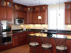 Solid Cherry, Colonial Cherry Stain | Kitchen remodel ...