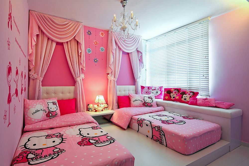 15 hello kitty bedrooms that delight and wow hello for Hello kitty bedroom design