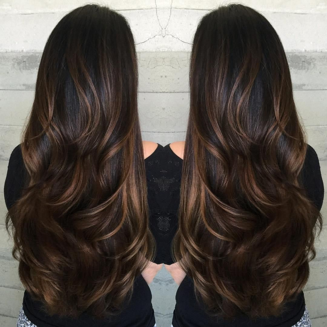 60 Hairstyles Featuring Dark Brown Hair With Highlights Hair Styles Long Hair Styles Brown Hair Balayage