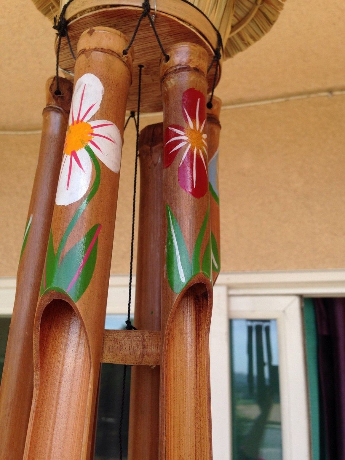 Hand painted bamboo wind chimes Sound of
