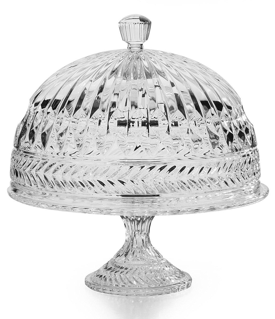 Godinger symphony cake plate with dome cake plates