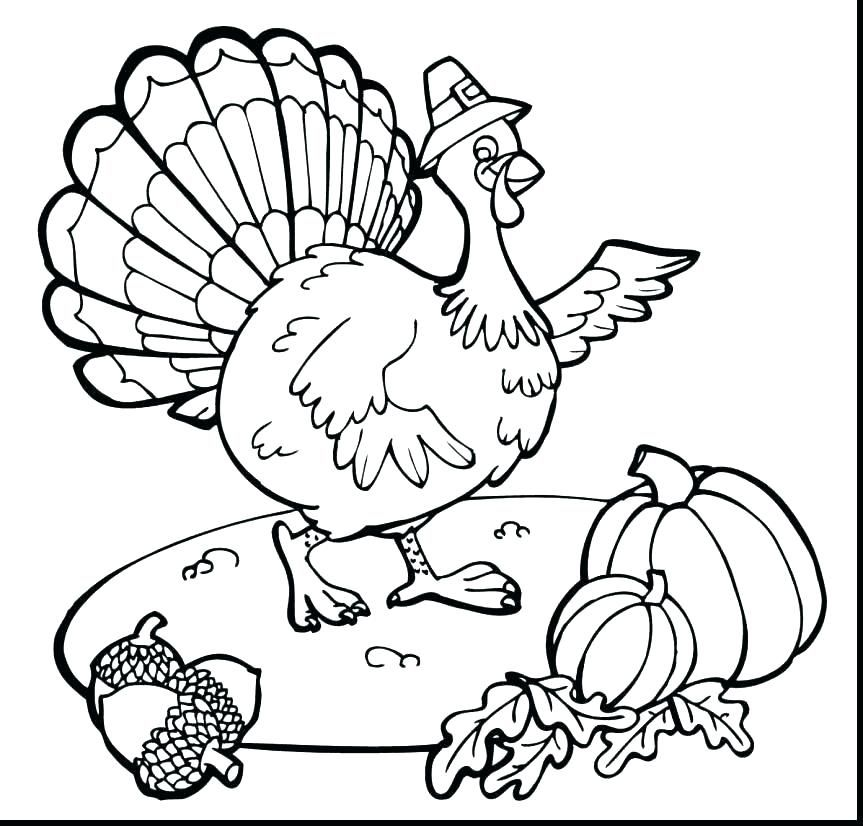 Turkey Coloring Pages Ideas For Thanksgiving Celebration