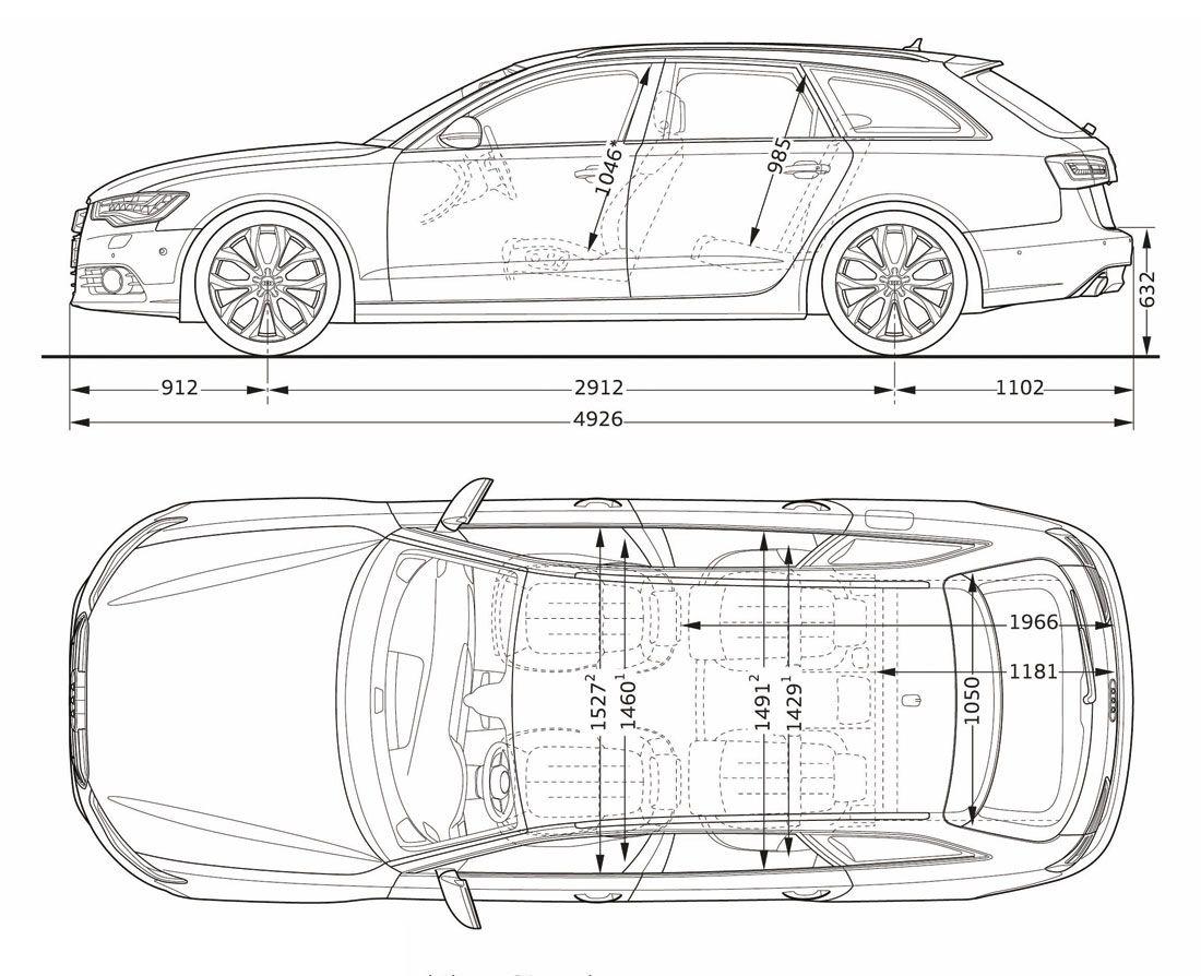 Audi a6 width