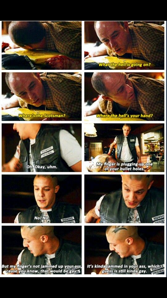 Sons of anarchy gay scene