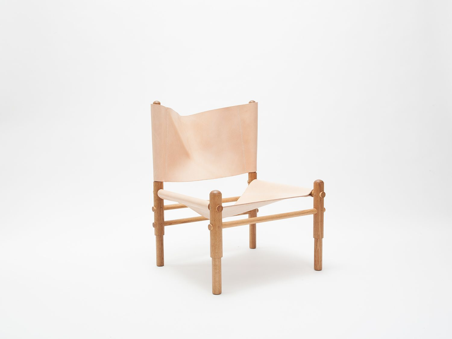 White Leather Chairs For Sale Chair Covers Chicago Oak Sling By Workstead Beautiful Blush